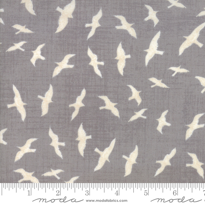 Ahoy Me Hearties 1431-15 Pebble Gray. Designed by Janet Clare for Moda Fabrics.