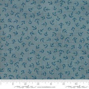 Ahoy Me Hearties 1433-14 Anchors Moda Fabrics