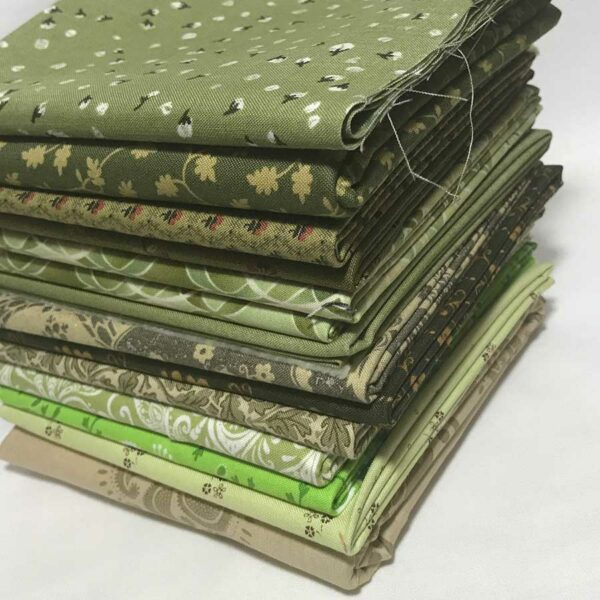 14 Full Width Fabric Strips Moda Fabrics 5 Yards 25 inches total fabric.