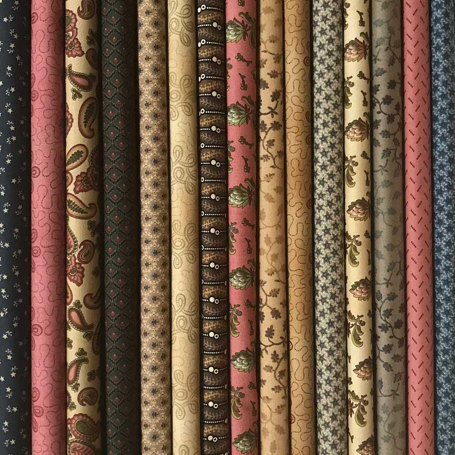 15 Fat Quarters Moda Fabrics