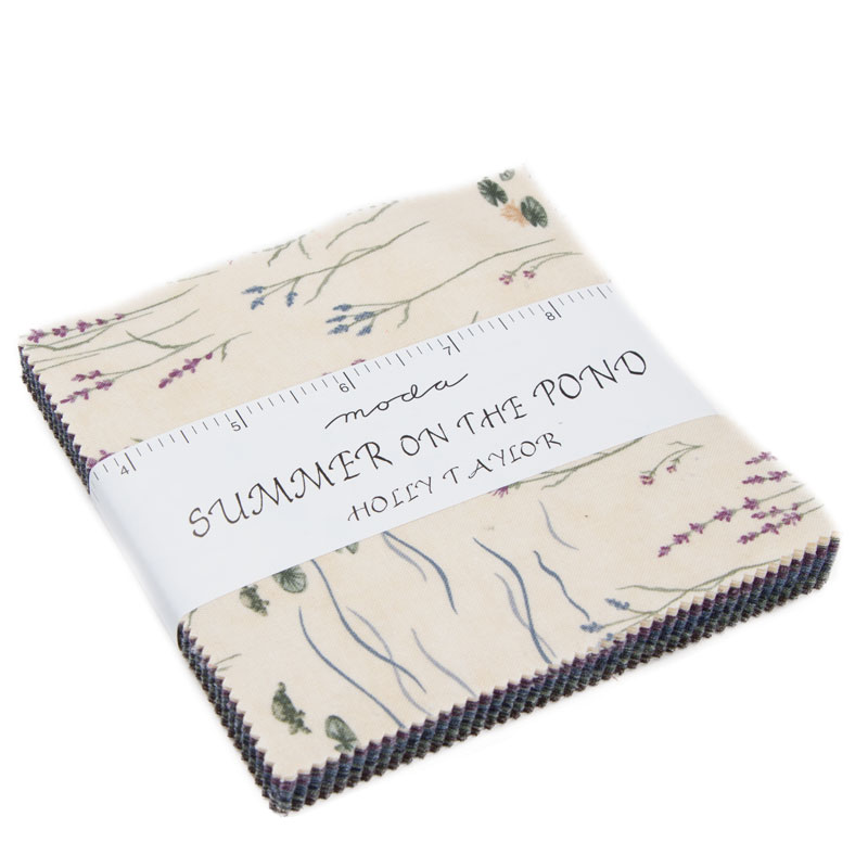 Summer On The Pond Charm Pack, Moda Fabrics, Holly Taylor