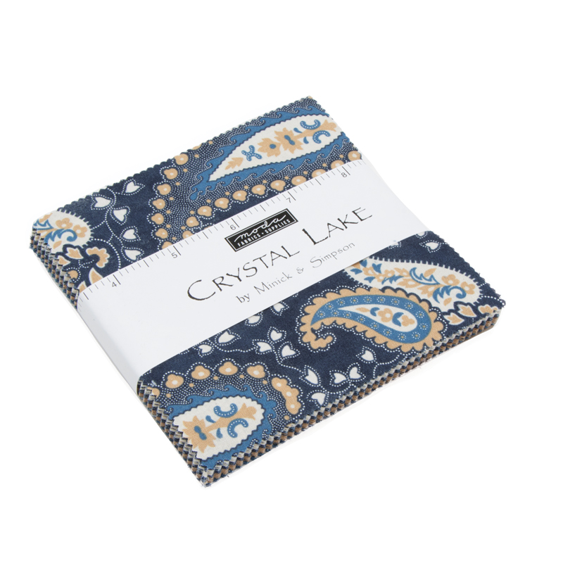 """Moda FABRIC Charm Pack ~ SUMMER ON THE POND ~ by Holly Taylor 5/"""" squares"""